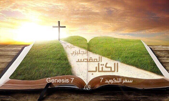 Genesis 7 English-Arabic with Audio   Read - Listen (KJV)
