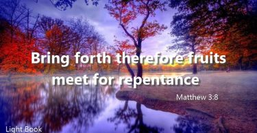 Bible Verses about Repentance in English and Arabic