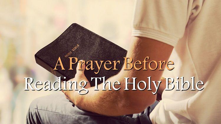 Prayer Before Reading the Bible - God Prepare My Heart