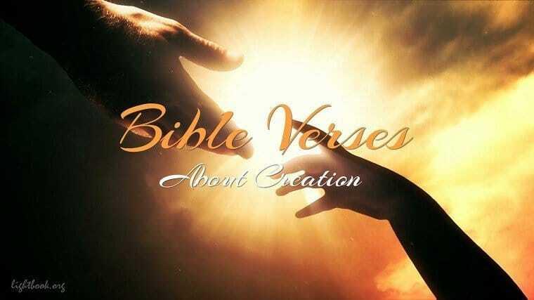 Photo of Bible Verses aboutCreation (English-Arabic)