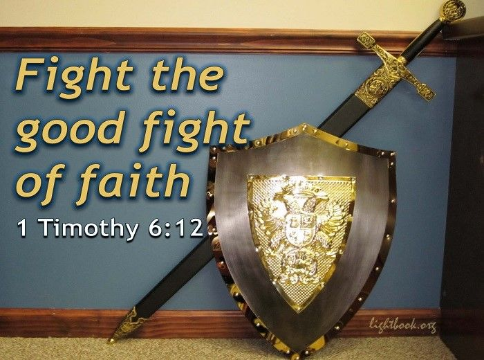 Bible Verses about Fight of Faith (English-Arabic)